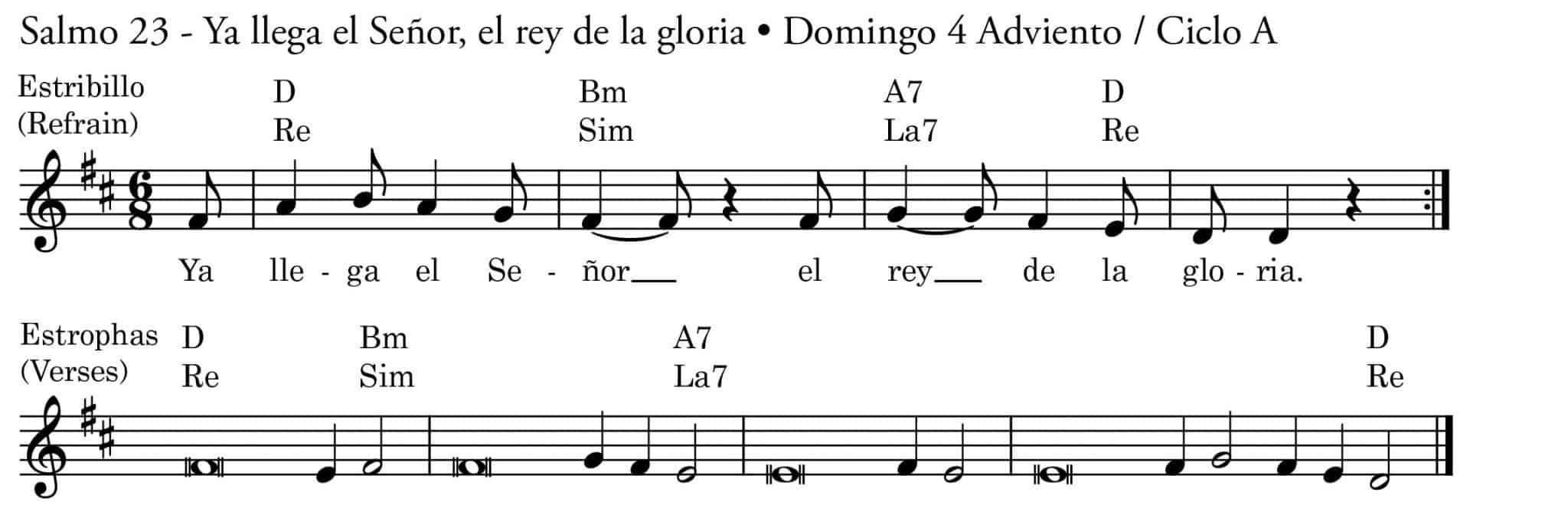 Domingo 4 Adviento A Salmo 23 Ya llega el Señor, el rey de la gloria