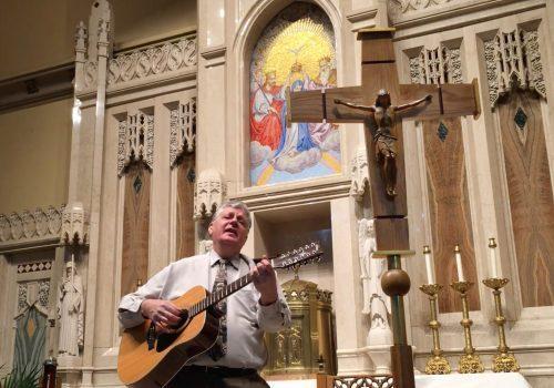 Salmos Responsoriales album art-cantor y crucifix-horiz